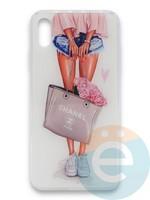 Накладка силиконовая Girl Style для Apple Iphone Xr Flowers