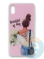 Накладка силиконовая Girl Style для Apple Iphone Xr Beautiful Day