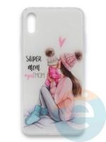 Накладка силиконовая Girl Style для Apple Iphone Xr Super Mom