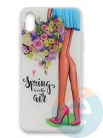 Накладка силиконовая Girl Style для Apple Iphone Xr Spring Air