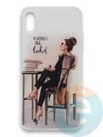 Накладка силиконовая Girl Style для Apple Iphone Xr All Booked