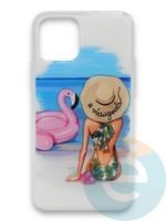 Накладка силиконовая Girl Style для Apple Iphone 11 Beach
