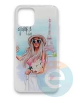 Накладка силиконовая Girl Style для Apple Iphone 11 Paris