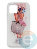 Накладка силиконовая Girl Style для Apple Iphone 11 Flowers