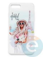 Накладка силиконовая Girl Style для Apple Iphone 6/6s Paris