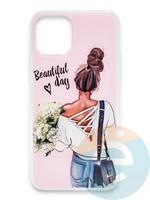 Накладка силиконовая Girl Style для Apple Iphone 11 Pro Max Beautiful Day