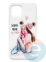 Накладка силиконовая Girl Style для Apple Iphone 11 Pro Max Super Mom