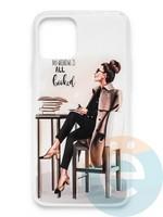 Накладка силиконовая Girl Style для Apple Iphone 11 Pro Max All Booked