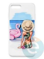 Накладка силиконовая Girl Style для Apple Iphone 6/6s Beach