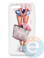 Накладка силиконовая Girl Style для Apple Iphone 6/6s Flowers