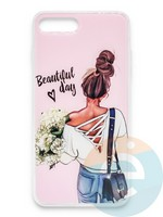 Накладка силиконовая Girl Style для Apple Iphone 6/6s Beautiful Day