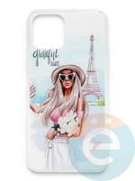 Накладка силиконовая Girl Style для Apple Iphone 11 Pro Max Paris