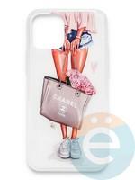Накладка силиконовая Girl Style для Apple Iphone 11 Pro Max Flowers