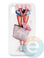 Накладка силиконовая Girl Style для Apple Iphone Xs Max Flowers