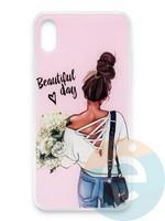 Накладка силиконовая Girl Style для Apple Iphone Xs Max Beautiful Day