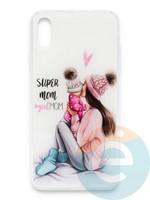 Накладка силиконовая Girl Style для Apple Iphone Xs Max Super Mom