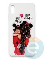 Накладка силиконовая Girl Style для Apple Iphone Xs Max Baby Mama