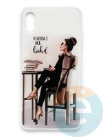 Накладка силиконовая Girl Style для Apple Iphone Xs Max All Booked