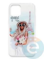 Накладка силиконовая Girl Style для Apple Iphone 11 Pro Paris