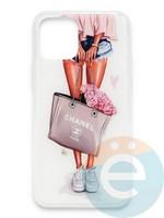 Накладка силиконовая Girl Style для Apple Iphone 11 Pro Flowers