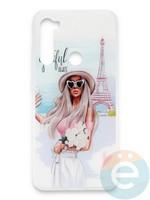 Накладка силиконовая Girl Style для Xiaomi Redmi Note 8T Paris