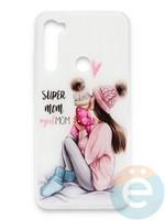 Накладка силиконовая Girl Style для Xiaomi Redmi Note 8T Super Mom