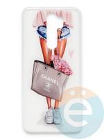 Накладка силиконовая Girl Style для Xiaomi Redmi Note 8 Pro Flowers