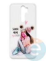 Накладка силиконовая Girl Style для Xiaomi Redmi Note 8 Pro Super Mom