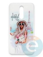 Накладка силиконовая Girl Style для Xiaomi Redmi 8 Paris