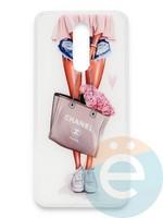 Накладка силиконовая Girl Style для Xiaomi Redmi 8 Flowers