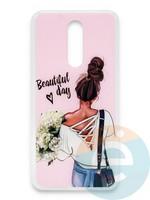 Накладка силиконовая Girl Style для Xiaomi Redmi 8 Beautiful Day