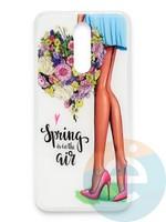 Накладка силиконовая Girl Style для Xiaomi Redmi 8 Spring Air