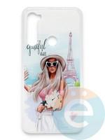 Накладка силиконовая Girl Style для Xiaomi Redmi Note 8 Paris