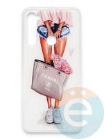Накладка силиконовая Girl Style для Xiaomi Redmi Note 8 Flowers