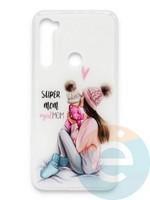 Накладка силиконовая Girl Style для Xiaomi Redmi Note 8 Super Mom