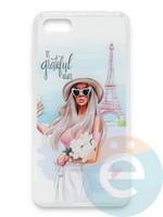 Накладка силиконовая Girl Style для Huawei Honor 7A/Y5 2018 Paris