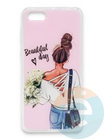 Накладка силиконовая Girl Style для Huawei Honor 7A/Y5 2018 Beautiful Day