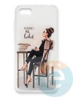 Накладка силиконовая Girl Style для Huawei Honor 7A/Y5 2018 All Booked