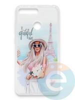 Накладка силиконовая Girl Style для Huawei Honor 7A Pro/Y6 2018 Paris