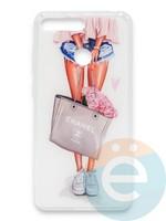 Накладка силиконовая Girl Style для Huawei Honor 7A Pro/Y6 2018 Flowers