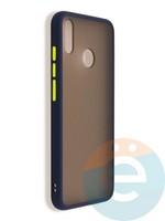 Накладка пластиковая матовая с силиконовой окантовкой для Huawei Honor 8x синяя