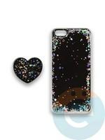 Накладка силиконовая с Поп Сокетом для Apple Iphone 6/6S черная