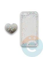 Накладка силиконовая с Поп Сокетом для Apple Iphone 6/6S белая