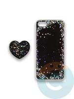 Накладка силиконовая с Поп Сокетом для Apple Iphone 7/8/SE2 черная