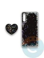 Накладка силиконовая с Поп Сокетом для Samsung A50/A30S черная