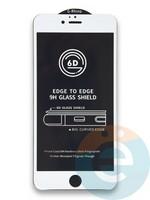 Защитное стекло 6D с полной проклейкой на Apple IPhone 6/6s Plus белое