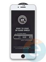 Защитное стекло 6D с полной проклейкой на Apple IPhone 7/8 Plus белое