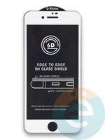 Защитное стекло 6D с полной проклейкой на Apple IPhone 7/8/SE 2020 белое