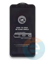 Защитное стекло 6D с полной проклейкой на Samsung Galaxy A6 Plus черное