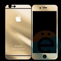 Защитное стекло Glass Protector на Apple iPhone 5/5s/SE золотистое